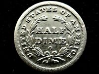 A NICE 1839 O BETTER DATE SEATED LIBERTY SILVER HALF DIME