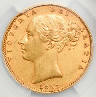 LOVELY 1855 QUEEN VICTORIA SHIELD GOLD SOVEREIGN