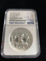 TERRACOTTA WARRIORS 2021 COOK IS $5 1OZ SILVER NGC 70 FR ULT