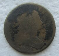 1798  1C BN DRAPED BUST LARGE CENT VG DETAIL CORRODED