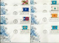 FIFTY  SET  OF 1976 STATE FLAG FIRST DAY COVERS