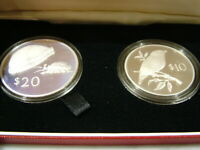 1978 FIJI SILVER PROOF $10 & $20 DOLLAR SOLID SILVER COIN SE