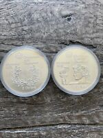 LOT OF 2 1974 SILVER CANADA $5 OLYMPIC GAMES MONTREAL BU COI