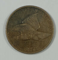 BARGAIN 1858 FLYING EAGLE CENT WITH LARGE LETTERS  FINE 1C