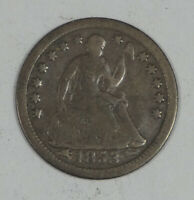 1853-O LIBERTY SEATED HALF DIME WITH ARROWS AT THE DATE  GOOD SILVER 5C