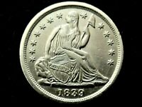 A LOVELY 1839 SEATED LIBERTY SILVER HALF DIME