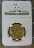 $10 1895 O LIBERTY HEAD GOLD EAGLE NGC MS62 NEW ORLEANS MINT