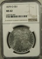 1879-O NEW ORLEANS MORGAN SILVER DOLLAR NGC MINT STATE 62 CHOICE FOR THE ASSIGNED GRADE