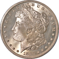 1885-CC MORGAN SILVER DOLLAR PCGS MINT STATE 66 SUPERB EYE APPEAL STRONG STRIKE