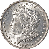1887-O MORGAN SILVER DOLLAR PCGS MINT STATE 62 GREAT EYE APPEAL STRONG STRIKE