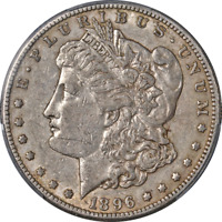 1896-S MORGAN SILVER DOLLAR PCGS EXTRA FINE 40 SUPERB EYE APPEAL STRONG STRIKE