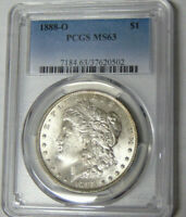 PCGS MINT STATE 63 1888-O MORGAN SILVER DOLLAR NEW ORLEANS MINT 37620502