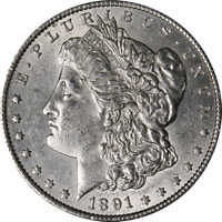 1891-S MORGAN SILVER DOLLAR GREAT DEALS FROM THE EXECUTIVE COIN COMPANY