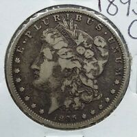 1895 O MORGAN EAGLE DOLLAR COIN VF  FINE NEAT TONING KEY DATE NEW ORLEANS