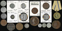 20 OLD RUSSIA COINS & MEDALS  LATE 1700'S TO EARLY 1900'S  C
