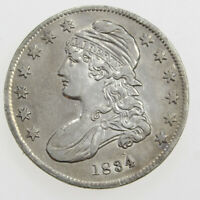 1834 50C CAPPED BUST SILVER HALF DOLLAR SMALL DATE