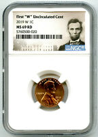 2019 W LINCOLN PENNY NGC MS69 RD UNCIRCULATED SHIELD FIRST '