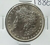 1886 P MORGAN SILVER EAGLE DOLLAR $1 COIN BU UNC UNCIRCULATED NOT MUCH TONING