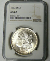 NGC MINT STATE 62 1883-O MORGAN SILVER DOLLAR NEW ORLEANS MINT 5929324-007