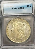 1882-O MORGAN SILVER DOLLAR $1 MINT STATE 65 -  IN MINT STATE 65 - SHIPS FREE GEM