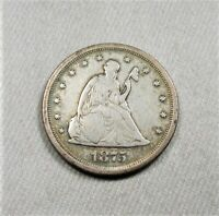 1975 S SILVER SEATED LIBERTY 20 CENTS COIN AL42