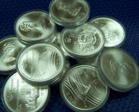 100$ FACE MIX OF CANADA 1976 OLYMPIC $10 COIN .925 FINE  14.4 OZ OF PURE SILVER