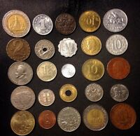 COINS OF THE WORLD   25 COINS FROM 25 NATIONS   HIGH QUALITY   EXCELLENT VARIETY