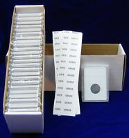 100 COIN HOLDERS SLAB STYLE FOR    SMALL 5 CENTS CAN. OR HALF DIME US 15.5 MM
