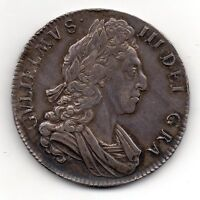 1700 CROWN COIN WILLIAM III ATTRACTIVELY TONED HIGH GRADE