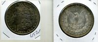 1883 O MORGAN SILVER DOLLAR BU RAINBOW TONED 6152F