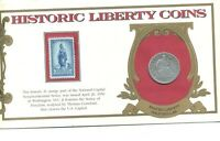 1854 O LIBERTY SILVER HALF DOLLAR COIN AND STAMP COVER