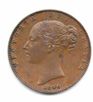 1846 FARTHING VICTORIA YOUNG HEAD
