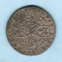 GREAT BRITAIN. 1787 GEORGE 111.. SHILLING.. WITH HEARTS..  GVF