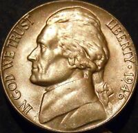 1946 D JEFFERSON NICKEL CHOICE/GEM BU UNCIRCULATED
