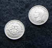 BRITISH COINS 1939 GEORGE VI SILVER THREEPENCE IN EF KEY DATE COLLECTIONS