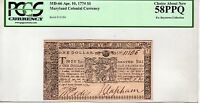 MD 66 $1 1774 MARYLAND COLONIAL CURRENCY PCGS 58 PPQ  EX BOYSTOWN COLLECTION
