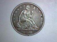 1860 O SEATED HALF DOLLAR XF