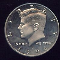 1996 S PROOF KENNEDY HALF DOLLAR GEM PF DCAM 928