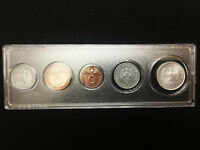 GERMAN WWII COINS SET WITH BIG EAGLE WITH DISPLAY CASE