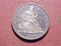 1859 SEATED LIBERTY NO MOTTO HALF DOLLAR SELECT PROOF JUST 800 STRUCK