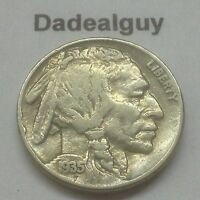 1935 BUFFALO NICKEL  FAST FREE BUBBLE PADDED SHIPPING  U.S. INDIAN COIN