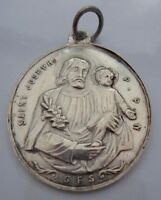 1830S ST JOSEPH VIRGIN MARY MIRACULOUS FRENCH RELIGIOUS CHRISTIAN SILVER MEDAL