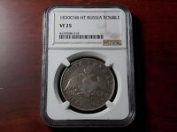 1830 RUSSIA ROUBLE SILVER COIN NGC VF 25
