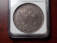 1742 RUSSIA ROUBLE SILVER COIN NGC VF 20