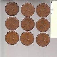 1927PDS 1928PDS 1929PDS  FINE LINCOLN CENTS  NICE COINS RS COINS SHIPS FREE1896