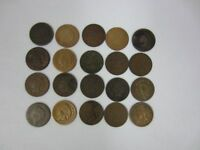 LOT OF 20 INDIAN HEAD CENT 1864 BRONZE X8, 1865 X10, 1867 X2 1C PENNY