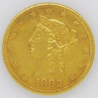 1882 $10 DOLLAR LIBERTY HEAD GOLD EAGLE WITH MOTTO COIN 297083