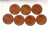 1920 DS 1925 DS 1927 DS 1928 DS 1929 DS    LINCOLN CENT ROLL  5 OF EACH DATE