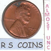 1949D  X 3     ALMOST UNCIRCULATED  LINCOLN  CENTS  SUPERB COINS  7771