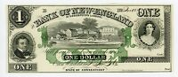 1865 $1 THE BANK OF NEW ENGLAND AT GOODSPEED'S LANDING   CONNECTICUT NOTE CH.CU